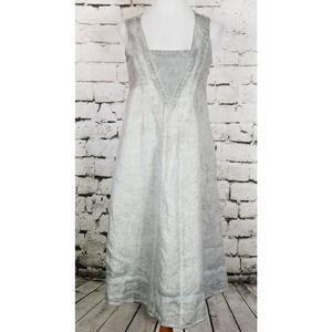 SOFT SURROUNDINGS Charlene Linen Midi Dress